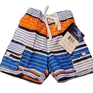 Boys Surfing Swimming Trunks Size 2T stripped Kanu
